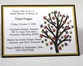 Rustic Autumn Tree Invitations