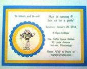 Buzz Lightyear Handmade Invitations