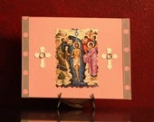 Orthodox Girl Baptism Greeting Card