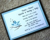 Singing/Calling Blue Bird Invitation or Announcement