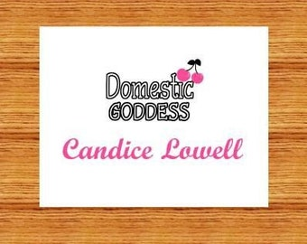 Domestic Goddess Personalized Stationery (set of 10 folded notes)