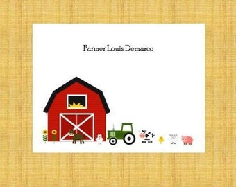 Farm Personalized Stationery (set of 10 folded notes)