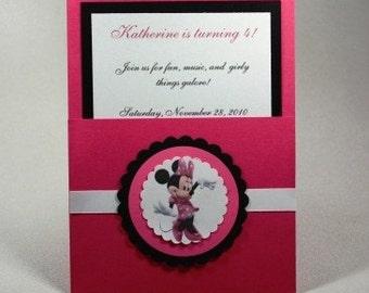 Minnie Mouse Pocket Invitations