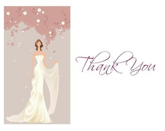 Bridal Thank You Cards (set of 10 folded notes)