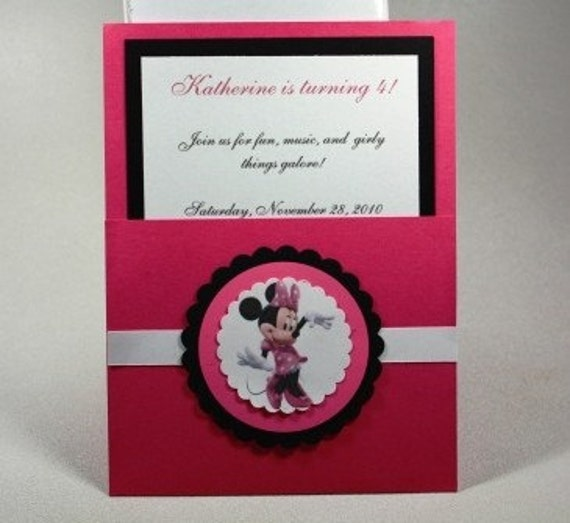 Minnie Mouse Pocket Invitations