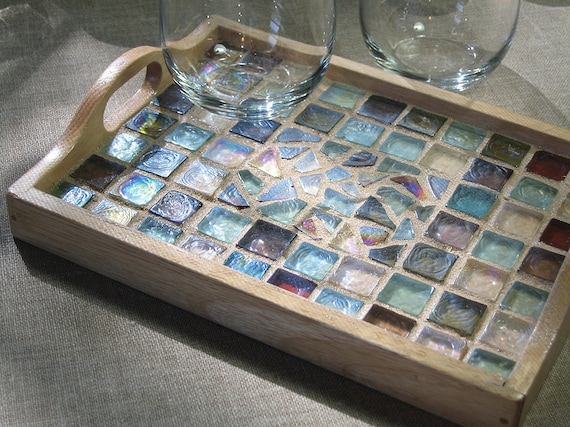 Beach Glass Mosaic Tray