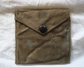 Vintage WW2 US Army Gas Mask Waterproofing Kit - iPhone, iPod touch, etc.  Coin Purse - Wallet