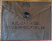 Vintage WW2 US Army Gas Mask Waterproofing Kit - iPhone, iPod, etc.  Coin Purse - Wallet
