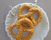Food Jewelry - Salted Pretzel Earrings