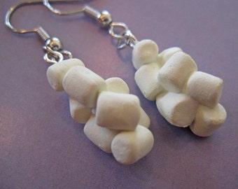 Marshmallow Earrings - Food Jewelry
