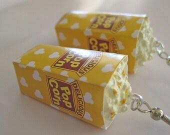 Food Jewelry - Buttered Popcorn Earrings