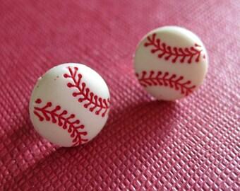 Baseball Earrings - Sports Jewelry - Baseball Mom - Baseball Coach Gift