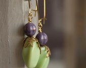 SALE - Flora - colorful glass beaded earrings