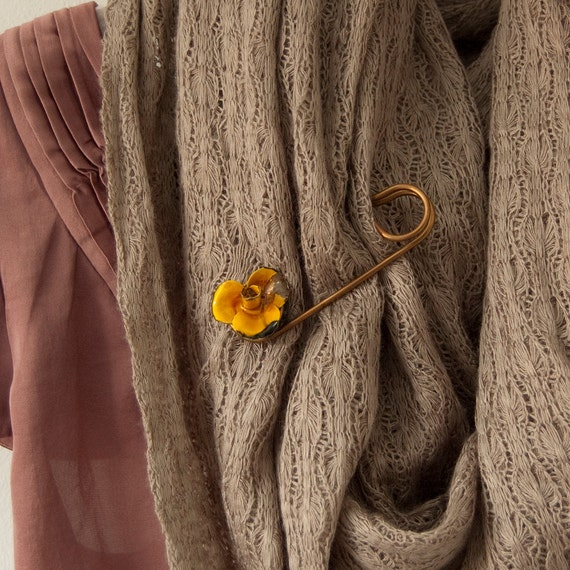 Viola - rustic shawl pin