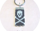 Indian Style Handwoven Skull and Crossbones Key Chain