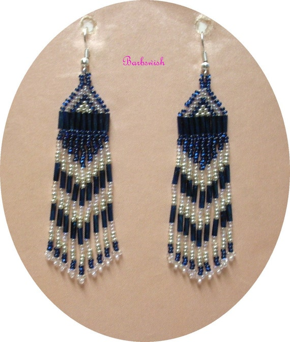 Traditional Indian Style Interior Design: Traditional Indian Style Seed Bead Earrings Montana Blue