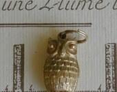 Vintage Gold Owl Pendant, Avon