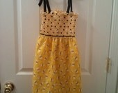 Yellow and Black Bumble Bee Smocked Sundress