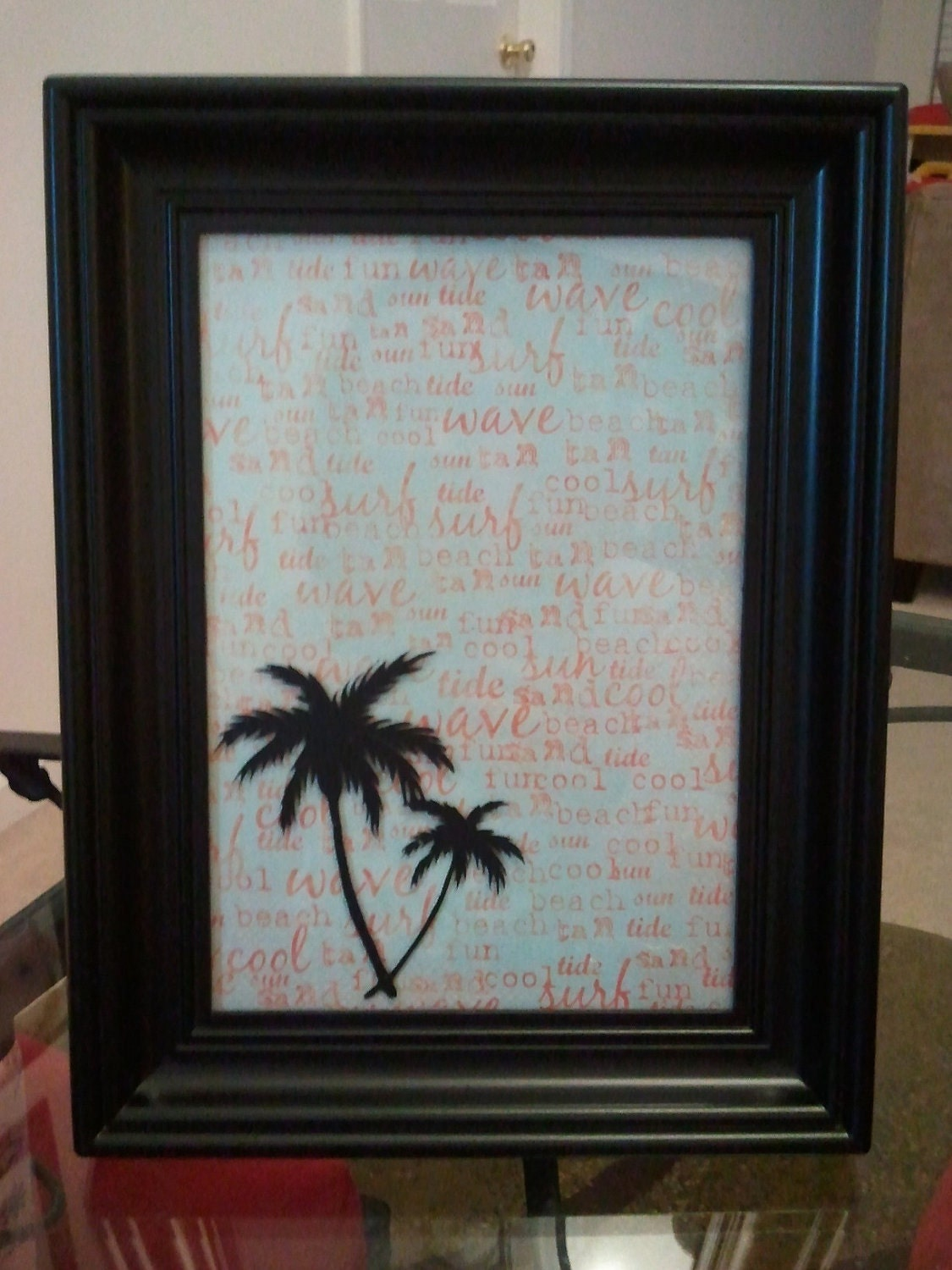 Palm Tree Picture Frame 5x7 By Signaturecreations1 On Etsy
