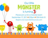 Little Monster Birthday Invitation - With or Without Photo