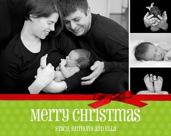 Merry Christmas Custom Photo Collage Card