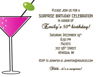 Pink Martini Party Invitation