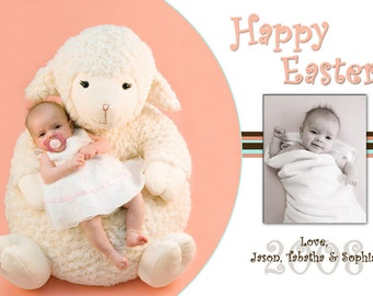 Cute Photo Easter Card