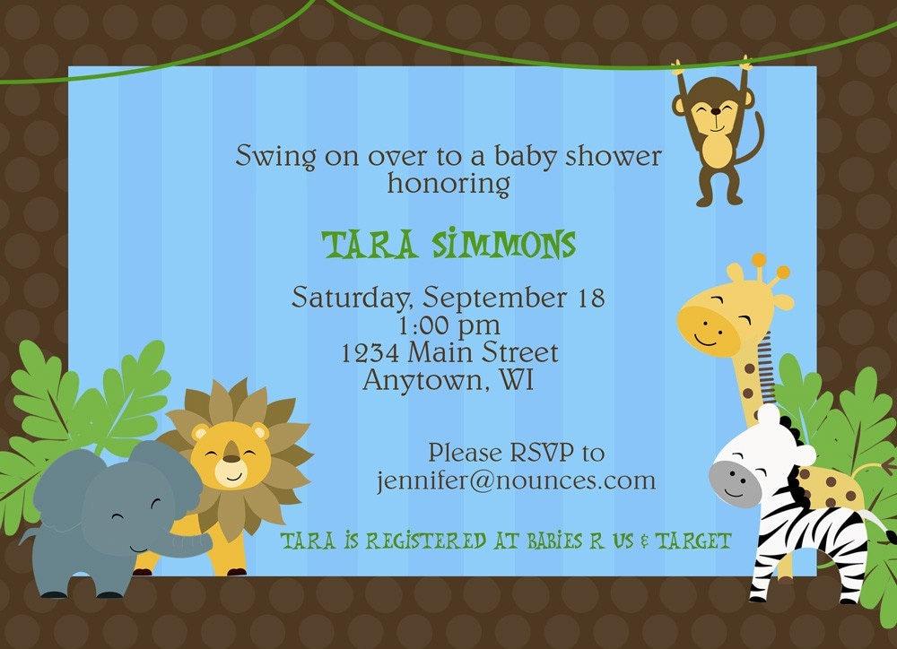 Safari Jungle Theme Baby Shower or Birthday