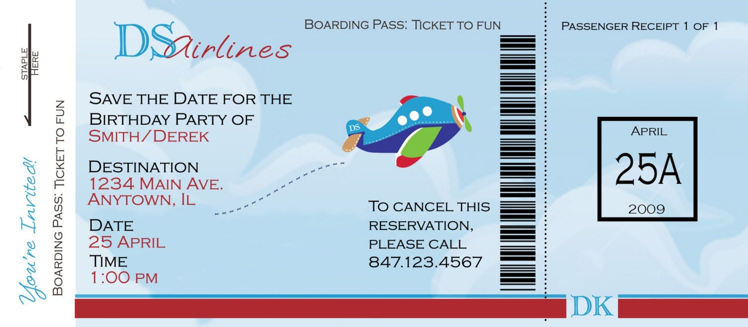 Alfa img - Showing > Airline Ticket Template