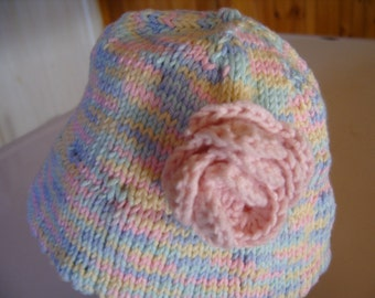Baby Sun Hat with Flower Unique Maine Made