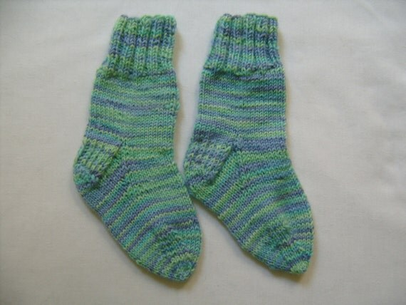 Baby Socks Size 2, 7 Months, Maine Made, Unique, Soft ,Lorna's Laces Wool