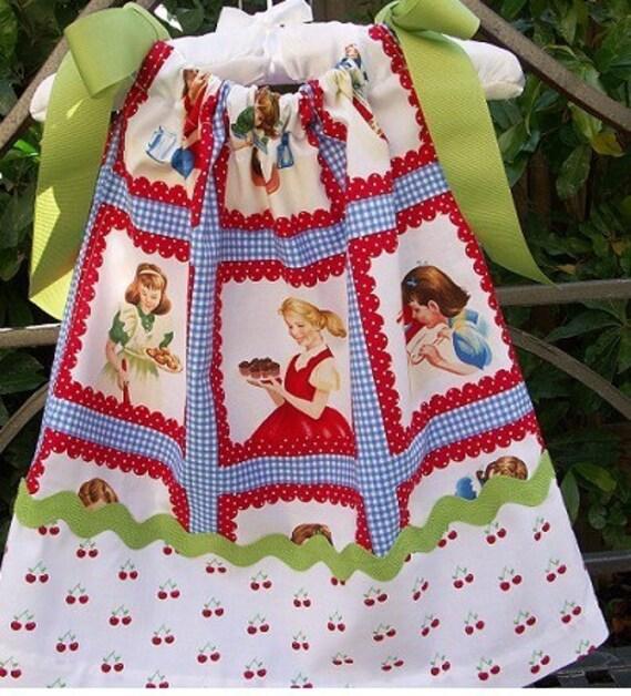 Pretty as Pie Retro Pillowcase Toddler Dress etsykids team