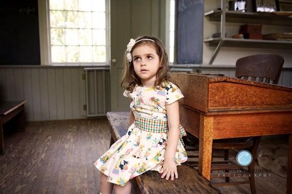 Vintage Mother Goose print Toddler Dress