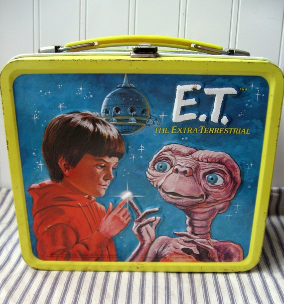 Metal E.T. Lunchbox Aladdin 1982 The Extra-Terrestrial Space Alien