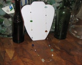 34 inch Sterling Silver and Sea Glass Necklace