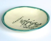 Adventure Pirate Ship Dessert Plate- Made to order