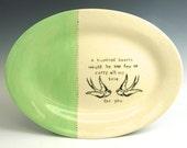 Color Block Custom Personalized Wedding Platter