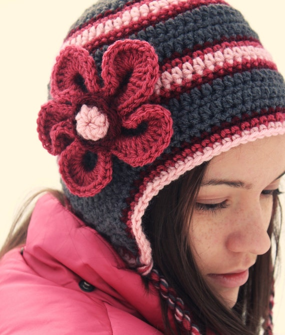 Items Similar To Crochet Or Knit Adult Hat Gray Grey And