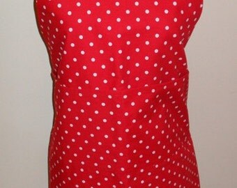 Adult Red Polka Dot Apron