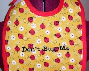 Yellow Ladybug Baby Bib
