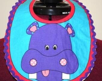 Hippo Infant Baby Bib