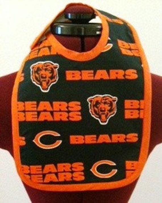 Chicago Bears Theme Baby Bib