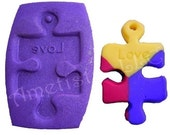 Autism Awareness Puzzle Piece Mold Set - Mold for Polymer Clay and PMC - Includes How-To Instructions