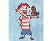Pirate Boy Mini (ACEO)