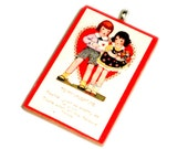 Pendant . Valentine Greetings from 1900s