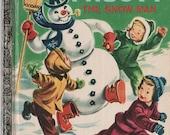 Vintage-Children-Golden-Christmas-Story-Book-Frosty-Snow-Man