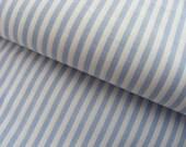 pale blue STRIPE cotton - candy stripes - 1.5 yard remnant piece