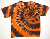 Black and Orange Spiral Youth Small