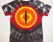 Lord of the Ring Tie Dye T-Shirt, Eye of Sauron Size 5-6