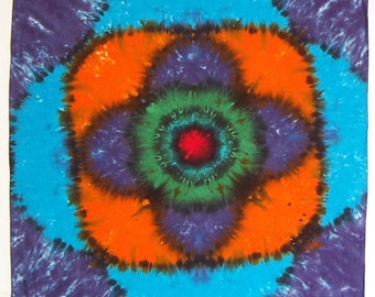 Passion Flower Tie Dye Tapestry